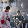 Stock Photo: Young people in procession with incense burners in Holy week