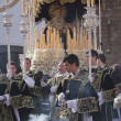 Stock Photo: Young people in procession with incense burners and processional candlesticks in Holy week