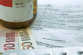 Concept of medicine, copayment for medicines — Stock Photo