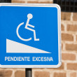 Sign of notice for handicapped persons — Stock Photo