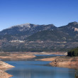 Panoramic view of reservoir of Tranco at half of its capacity — Stock Photo