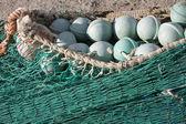 Fishing net at an old port — Foto de Stock