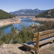 Panoramic view of reservoir of Tranco to 89  of its capacity — Stock Photo
