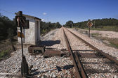 Linea ferroviaria abbandonata — Foto Stock