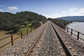 Abandoned railway line from Cordoba to Almorchon — Stock Photo