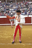 The spanish bullfighter Enrique Ponce at the paseillo or initial parade — Stock Photo