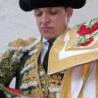 Stock Photo: Spanish bullfighter El Juli getting dressed for paseillo or initial parade