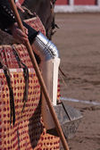 Picador bullfighter, lancer whose job it is to weaken bull's neck muscles, Spain — Stock Photo