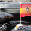 Francoist flag on vintage car, Spain — Stock Photo