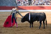 """El torero español toros de manuel Jesús """"el cid"""" en una corrida de toros en baeza — Foto de Stock"""