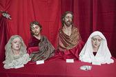 Semana santa católica de expositor figuras religiosas na andaluzia — Fotografia Stock
