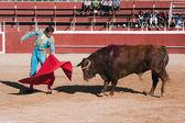 The Spanish bullfighter David Valiente Bullfight at Beas de Segura bullring — Stockfoto