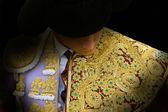 Toureiro se vestindo para o paseillo ou desfile inicial — Fotografia Stock