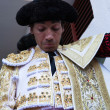 Stock Photo: Spanish bullfighter Curro Diaz getting dressed for paseillo or initial parade
