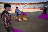 Bullfighters with the Cape before the Bullfight — Stock Photo