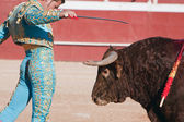 He Spanish bullfighter David Valiente Bullfight at Beas de Segura bullring — Stock Photo