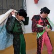 Stock Photo: Bullfighters getting dressed for paseillo or initial parade