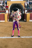 Bullfighter at the paseillo or initial parade — ストック写真