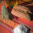 Stock Photo: Traditional bread and salt