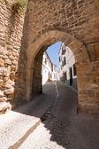Mudejar door in summer time — Foto Stock