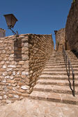 Stairs next to the Mudejar tower — Stok fotoğraf