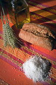 Traditional bread and salt — Stock Photo