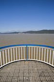 Viewpoint on the dam of the Puente Nuevo reservoir — Foto de Stock