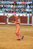 Banderillero, the torero who, on foot, places the darts in the bull — Stock Photo