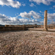 Column in archaelogical site named High square, la mota castle — Stockfoto