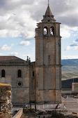Bell tower of Abbey church of La Mota castle — Stock Photo