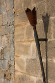 Old iron torch — Foto de Stock