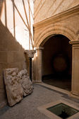 Cloister beside the abbey — Stock Photo