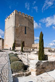 Archaelogical remains in citadel of La mota — Stock Photo