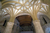 Gothic vault of rib — Stock Photo