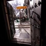 Views from the Carrera del Darro from inside La fontana pub, Granada — Stock Photo #34581759