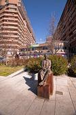 マヌエル ・ デ ・ ファリャ ブロンズの彫像 — ストック写真