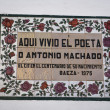 Commemorative ceramic altarpiece of the birth of the Spanish poet Antonio Machado — Stock Photo