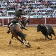 Stock Photo: Spanish bullfighter on horseback Diego Venturbullfighting on horseback