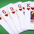 Cards poker deck English, Poker hand call color — Stock Photo
