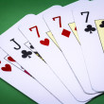 Poker hand call full house — Stock Photo #39205469