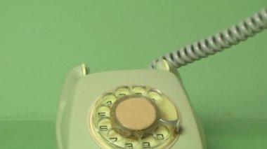 拨号老式电话 — 图库视频影像
