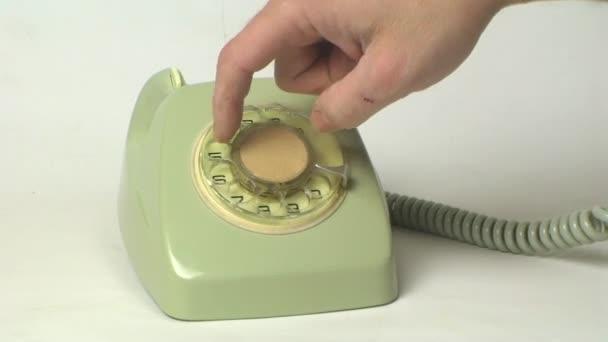 Marcación telefónica vintage — Vídeo de stock