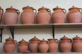Clay pottery ceramics typical of Bailen — Stock Photo