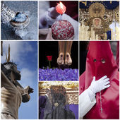Concept of holyweek in Spain, collage — Stock Photo