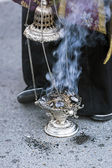 Censer of silver or alpaca to burn incense in the holy week, Spa — Photo