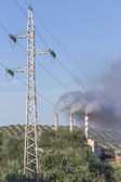 Chimney expelling pollutant gases to the air, Spain — Stock Photo