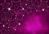 Christmas background with shining stars — Stock Photo