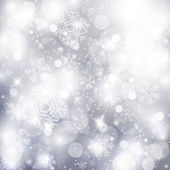 Elegant christmas silver background — Stock Photo