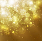 Elegant christmas golden background — Stock Photo
