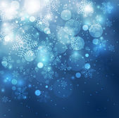 Elegant christmas blue background — Stock Photo
